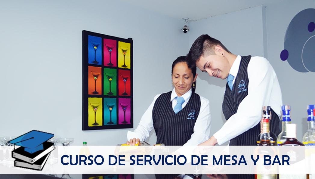 Curso de Servicios de Mesa y Bar con SENA